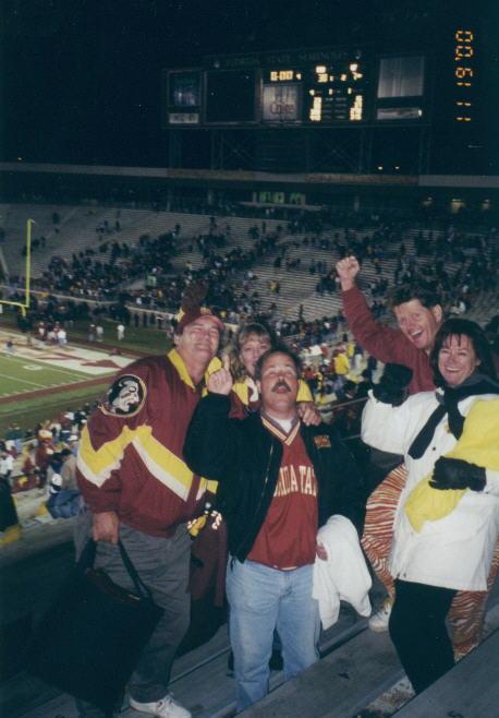 Victory at Doak - Bob, Pam & Thom Wilkins, Janet & Buzz Cole